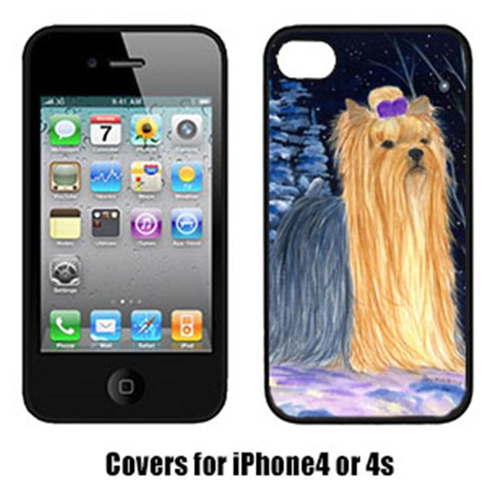 Carolines Treasures SS8365IP4 Starry Night Yorkie Cell Phone cover IPhone 4