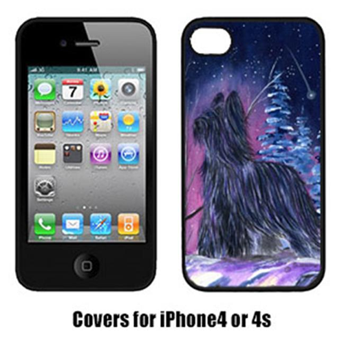 Carolines Treasures SS8366IP4 Starry Night Briard Cell Phone cover IPhone 4