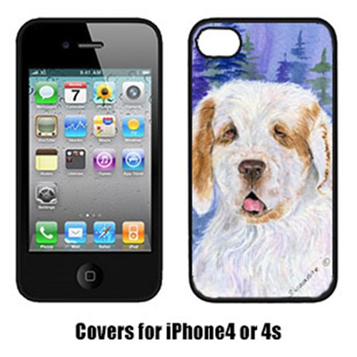 Carolines Treasures SS8008IP4 Clumber Spaniel Iphone 4 Cover