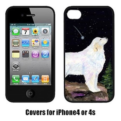 Carolines Treasures SS8471IP4 Starry Night Great Pyrenees Cell Phone Cover Iphone 4