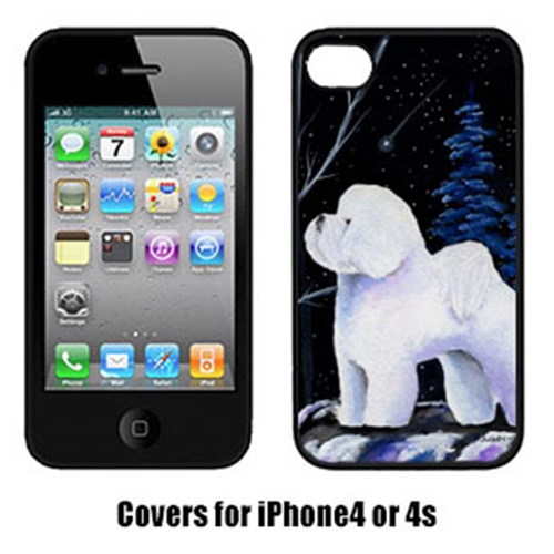 Carolines Treasures SS8397IP4 Starry Night Bichon Frise Cell Phone cover IPhone 4