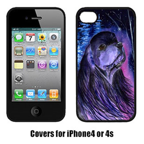 Carolines Treasures SS8385IP4 Starry Night Cocker Spaniel Cell Phone cover IPhone 4