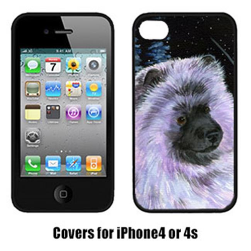 Carolines Treasures SS8412IP4 Starry Night Keeshond Cell Phone Cover Iphone4