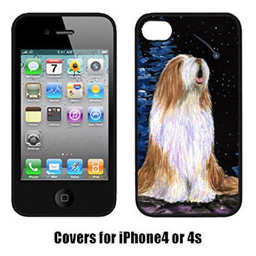 Carolines Treasures SS8467IP4 Starry Night Bearded Collie Cell Phone Cover Iphone 4