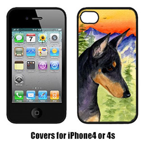 Carolines Treasures SS8425IP4 Manchester Terrier Cell Phone Cover Iphone 4