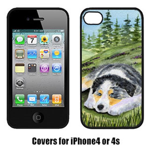Carolines Treasures SS8283IP4 Australian Shepherd Cell Phone cover IPhone 4