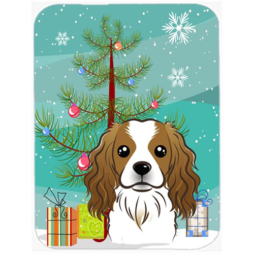 Carolines Treasures BB1596MP Christmas Tree And Cavalier Spaniel Mouse Pad Hot Pad & Trivet