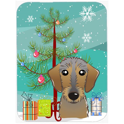 Carolines Treasures BB1605MP Christmas Tree And Wirehaired Dachshund Mouse Pad Hot Pad & Trivet