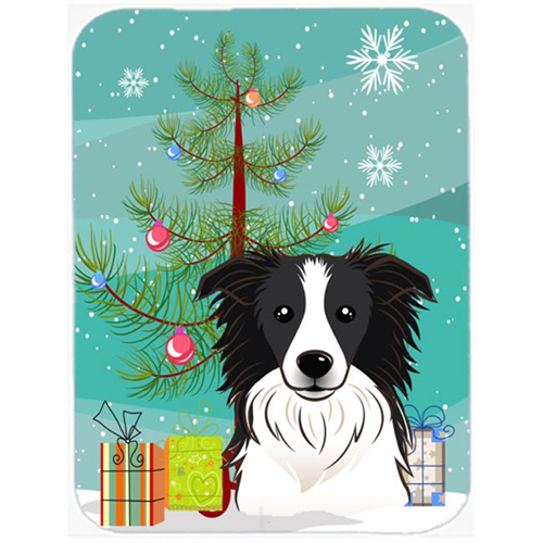 Carolines Treasures BB1613MP Christmas Tree And Border Collie Mouse Pad Hot Pad & Trivet
