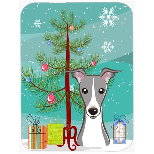 Carolines Treasures BB1608MP Christmas Tree And Italian Greyhound Mouse Pad Hot Pad & Trivet