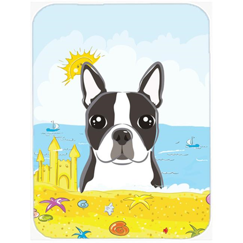 Carolines Treasures BB2071MP Boston Terrier Summer Beach Mouse Pad Hot Pad or Trivet