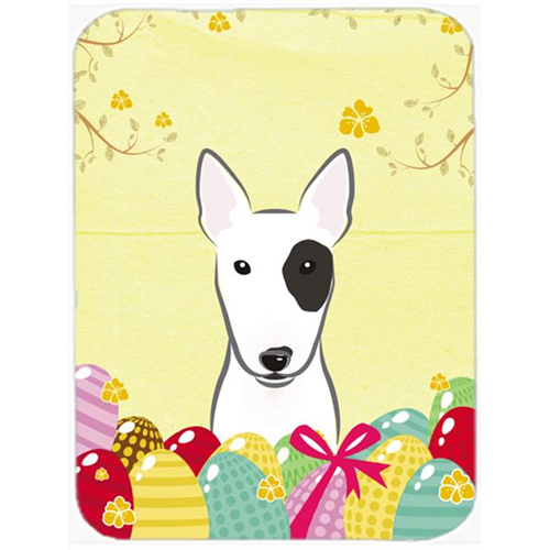 Carolines Treasures BB1891MP Bull Terrier Easter Egg Hunt Mouse Pad Hot Pad or Trivet