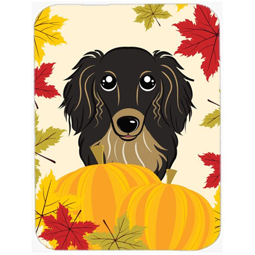 Carolines Treasures BB2019MP Longhair Black &Tan Dachshund Thanksgiving Mouse Pad Hot Pad or Trivet