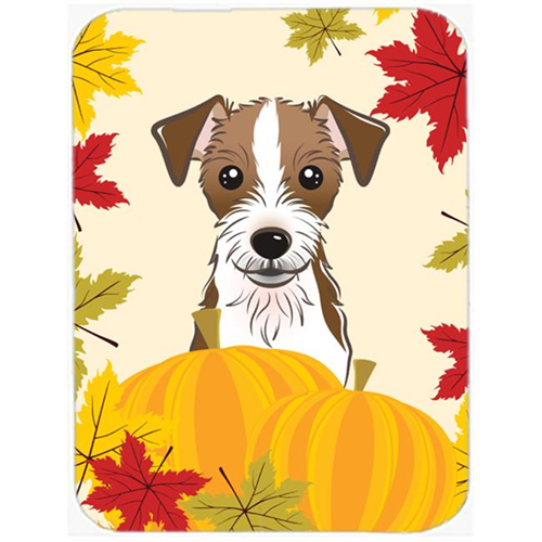 Carolines Treasures BB2008MP Jack Russell Terrier Thanksgiving Mouse Pad Hot Pad or Trivet