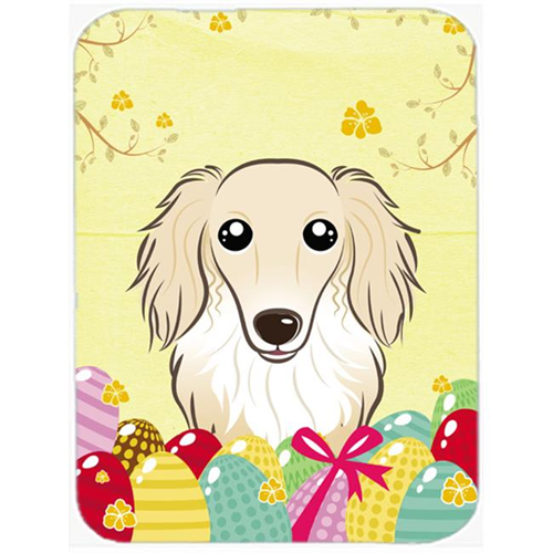 Carolines Treasures BB1894MP Longhair Creme Dachshund Easter Egg Hunt Mouse Pad Hot Pad or Trivet