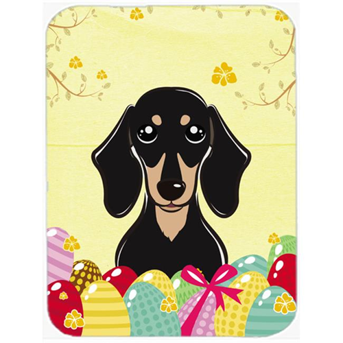 Carolines Treasures BB1897MP Smooth Black & Tan Dachshund Easter Egg Hunt Mouse Pad Hot Pad or Trivet