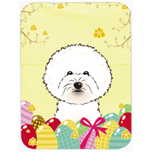 Carolines Treasures BB1899MP Bichon Frise Easter Egg Hunt Mouse Pad Hot Pad or Trivet
