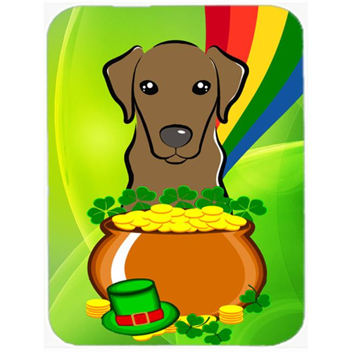 Carolines Treasures BB1978MP Chocolate Labrador St. Patricks Day Mouse Pad Hot Pad or Trivet