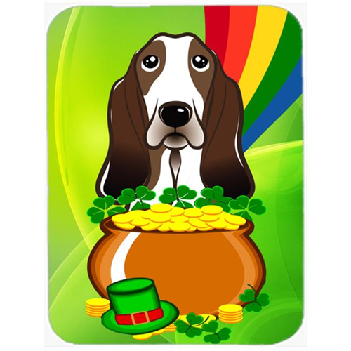 Carolines Treasures BB1987MP Basset Hound St. Patricks Day Mouse Pad Hot Pad or Trivet