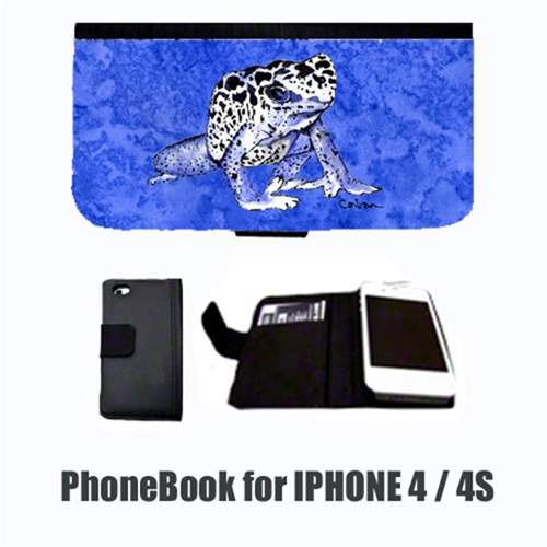 Carolines Treasures 8687-NBIP4 Frog Cell Phonebook Cell Phone case Cover for IPHONE 4 or 4S