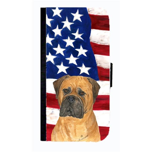 Carolines Treasures SS4001NBIP4 USA American Flag With Bullmastiff Cell Phone Case Cover For Iphone 4 Or 4S