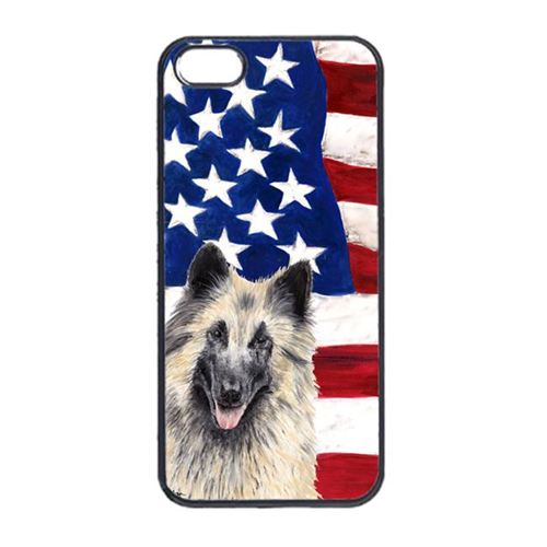 Carolines Treasures SC9116IP4 USA American Flag With Belgian Tervuren Iphone 4 Cover