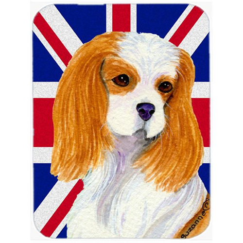 Carolines Treasures SS4969MP 7.75 x 9.25 In. Cavalier Spaniel With English Union Jack British Flag Mouse Pad Hot Pad Or Trivet