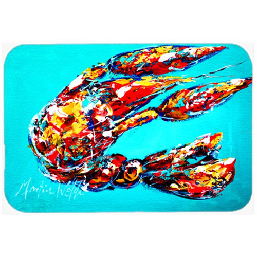 Carolines Treasures MW1161MP Lucy the Crawfish in blue Mouse Pad Hot Pad or Trivet