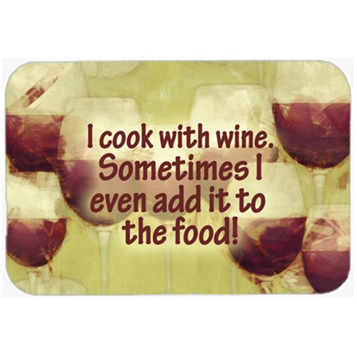 Carolines Treasures SB3069MP 7.75 x 9.25 In. I Cook With Wine Mouse Pad Hot Pad Or Trivet