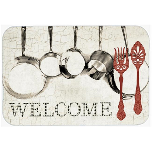 Carolines Treasures SB3087MP 7.75 x 9.25 In. Pots And Pans Welcome Mouse Pad Hot Pad Or Trivet