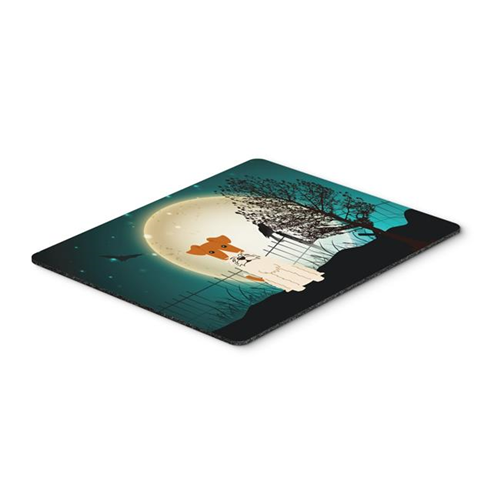 Carolines Treasures BB2291MP Halloween Scary Wire Fox Terrier Mouse Pad Hot Pad or Trivet