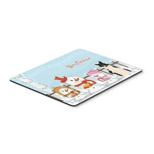 Carolines Treasures BB2360MP Merry Christmas Carolers Russo-European Laika Spitz Mouse Pad Hot Pad or Trivet