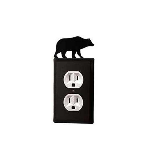 Village Wrought Iron EO-14 Bear Outlet Cover-Black