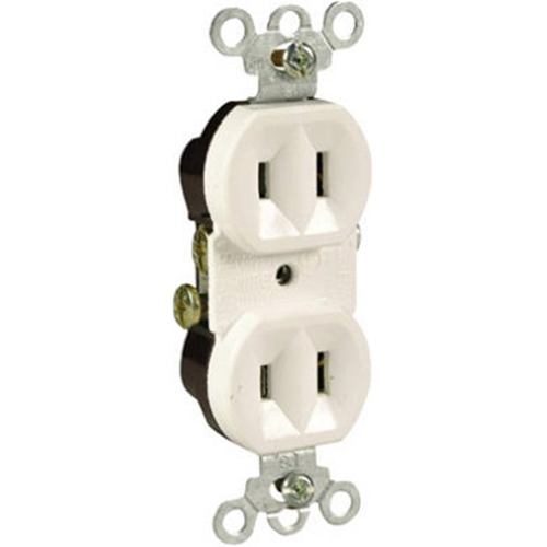 Pass & Seymour 4025WCC20 15A 125V 2 Pole Standard Duplex Outlet - White