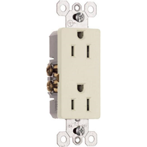 Pass & Seymour 885LACC14 Premium Decorator Outlet 15A 125V Light Almond
