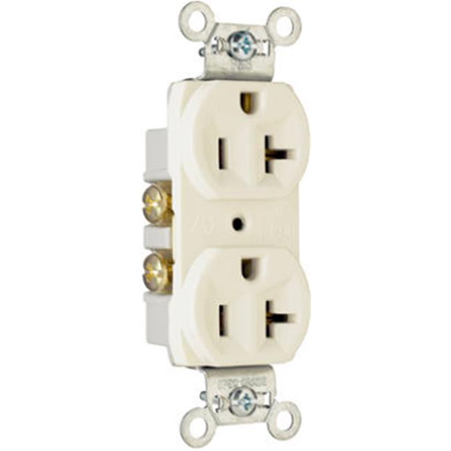 Pass & Seymour CR20LACC12 Duplex Outlet 20A Light Almond