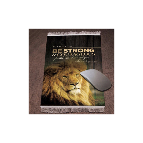 Lukas Media 185936 Mouse Pad-Be Strong & Courageous-Joshua 1 - 9-Carpet