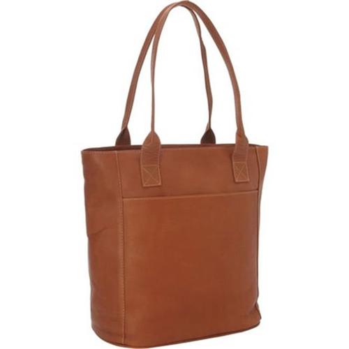 Piel Leather 2967 Xl Laptop Tote Bag - Saddle