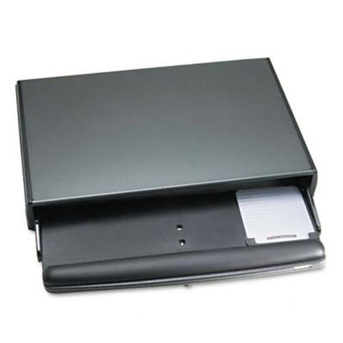 3M KD95CG Desktop Adjustable Keyboard Drawer 25 x 10-1/2 Charcoal Gray