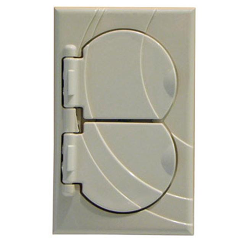StayConnect IR300-DNH-V Duplex Outlet Cover - Ivory