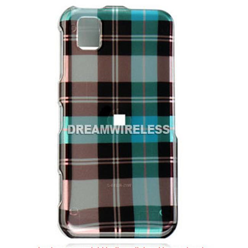 DreamWireless CASAMR810BLCK Samsung Finesse R810 Crystal Case Blue Checker - Metro PCS