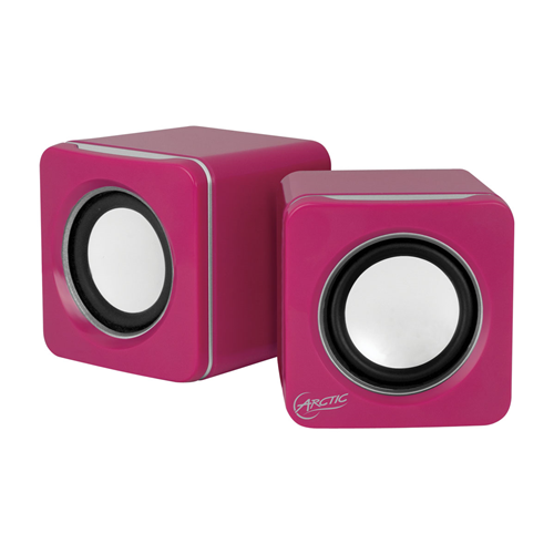ARCTIC S111 M Mobile Mini Stereo USB Sound System with 2 x 2 W RMS Integrated 2000 mAh Battery (12 Hours Play Time) - Pink