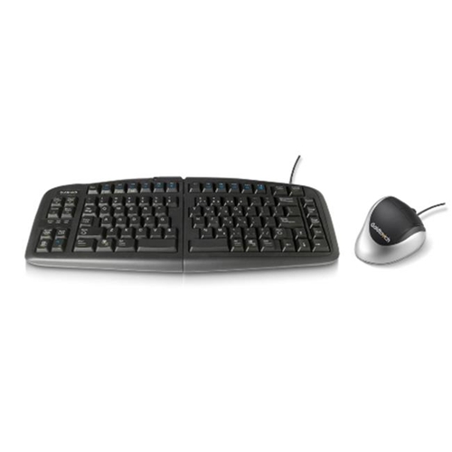 Goldtouch GTF-KRH-B GTU-0088 USB Keyboard & Right Handed Bluetooth Mouse Bundle