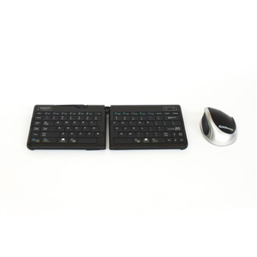 Goldtouch GTMB-0044W Go 2 Mobile Keyboard And Bluetooth Comfort Mouse Bundle