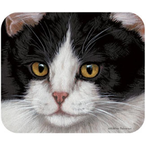 Fiddlers Elbow FEM71 Black & White Cat Mouse Pad