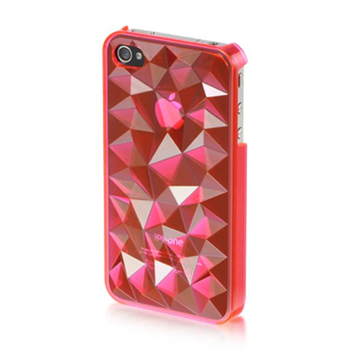 DreamWireless IP-MCIP4VZHP iPhone 4S & iPhone 4 Compatible Mount Crystal Case - Hot Pink