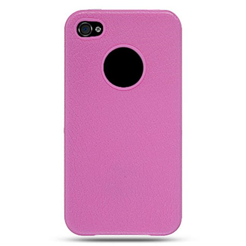 DreamWireless IP-CSIP4HP-L iPhone 4 Crystal Skin Case - Leather Hot Pink