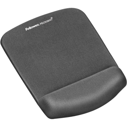 Fellowes PlushTouch Mouse Pad-Wrist Rest with FoamFusion Technology-Graphite - 9252201