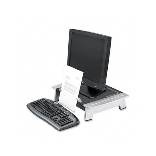 Fellowes Office Suites Standard Monitor Riser with Copy Holder - Up to 80lb Monitor - Black