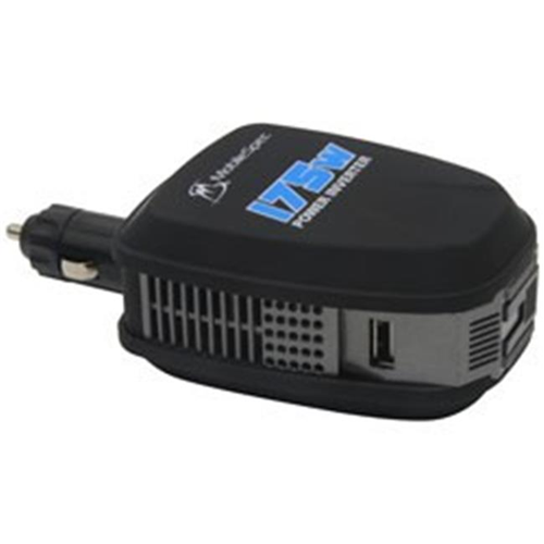MobileSpec MS175 175 Watt DC to AC Power Inverter with USB Port & AC Outlet